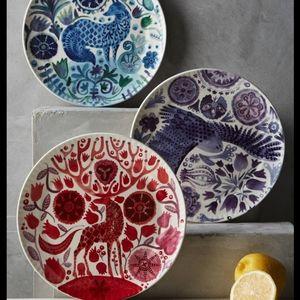 Anthropologie Nordic Sunrise Dessert Plates